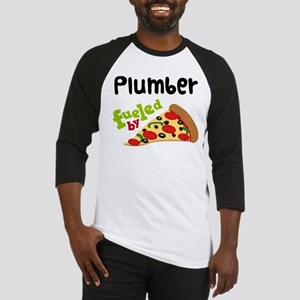 Plumber Fueled By Pizza Baseball Jersey