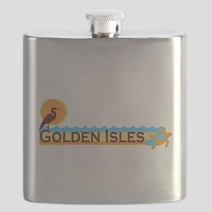 Golden Isles GA - Beach Design. Flask