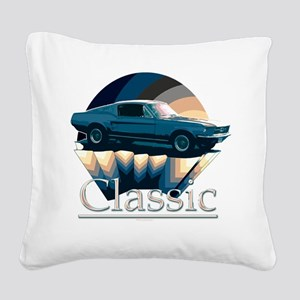 Mustang Square Canvas Pillow