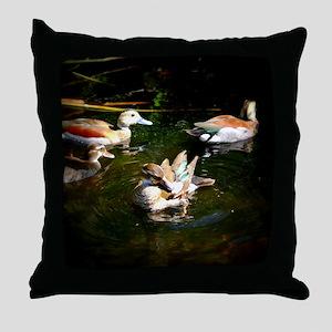 A Duck Quartet Throw Pillow