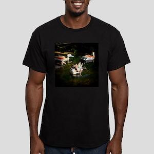 A Duck Quartet Men's Fitted T-Shirt (dark)