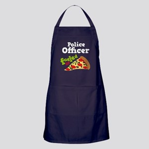 Police Officer Funny Pizza Apron (dark)