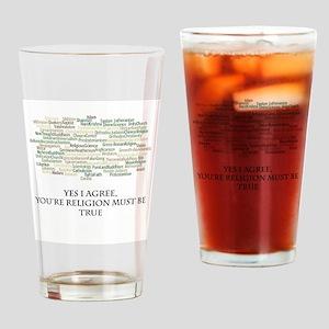 The true religion Drinking Glass