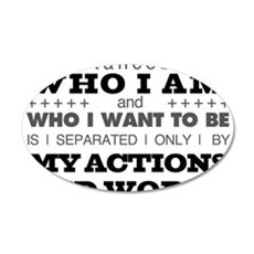 My Actions and Words Grey/Black Wall Decal