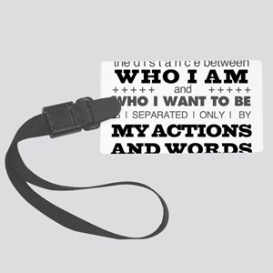 My Actions and Words Grey/Black Large Luggage Tag
