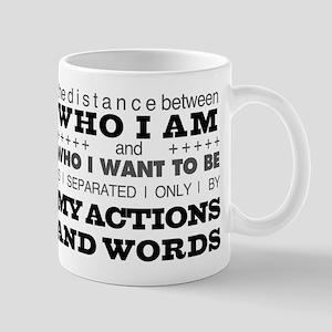 My Actions and Words Grey/Black Mug