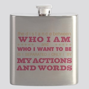 My Actions and Words Pink/Orange Flask