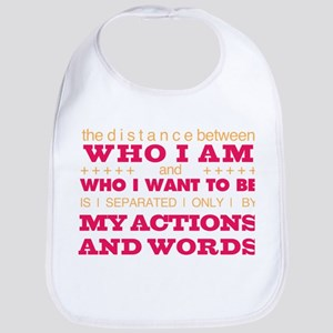 My Actions and Words Pink/Orange Bib