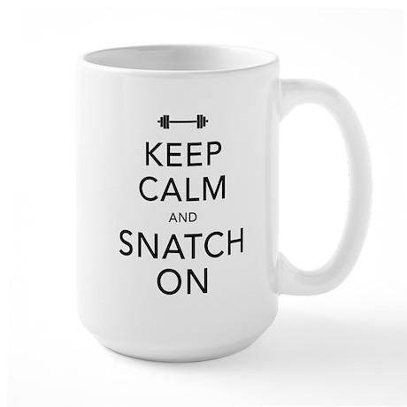 Keep Calm and Snatch On Black Large Mug