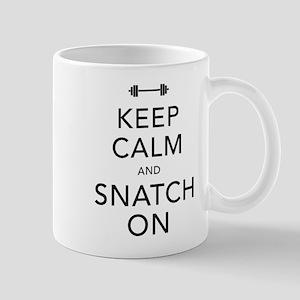 Keep Calm and Snatch On Black Mug