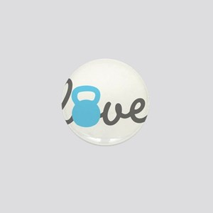 Love Kettlebell Blue Mini Button