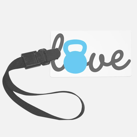 Love Kettlebell Blue Luggage Tag