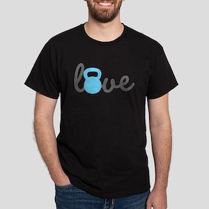 Love Kettlebell Blue Dark T-Shirt