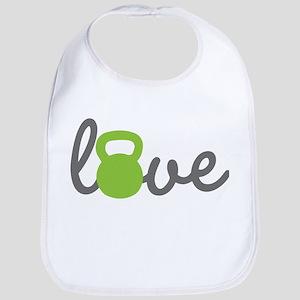 Love Kettlebell Green Bib