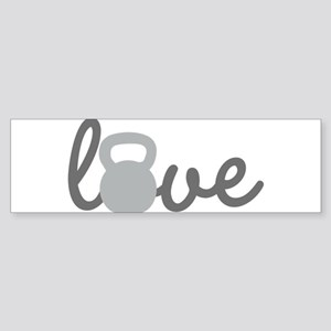 Love Kettlebell Grey Sticker (Bumper)