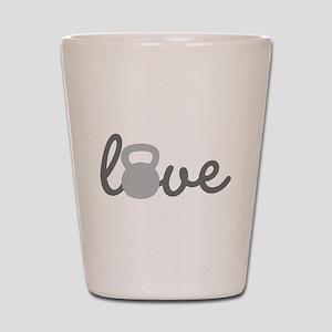 Love Kettlebell Grey Shot Glass