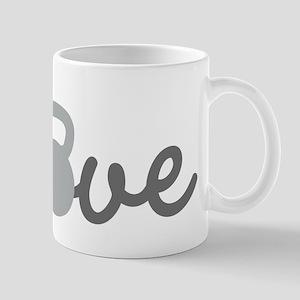 Love Kettlebell Grey Mug