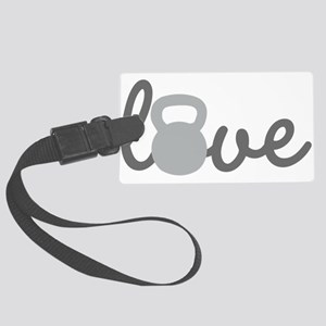 Love Kettlebell Grey Large Luggage Tag