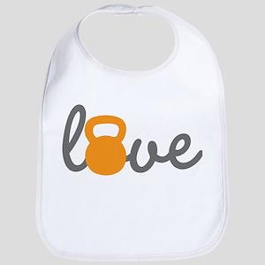 Love Kettlebell in Orange Bib