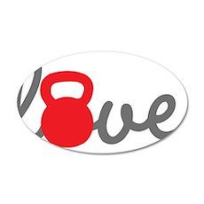 Love Kettlebell in Red Wall Sticker