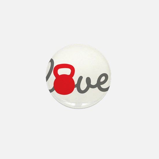 Love Kettlebell in Red Mini Button