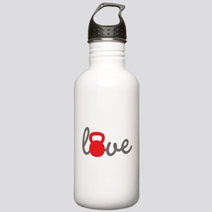 Love Kettlebell in Red Stainless Water Bottle 1.0L