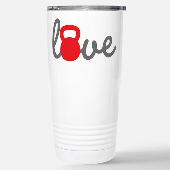 Love Kettlebell in Red Stainless Steel Travel Mug