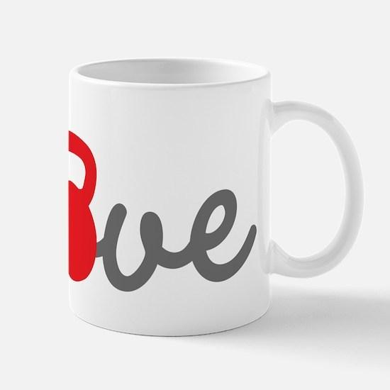 Love Kettlebell in Red Mug
