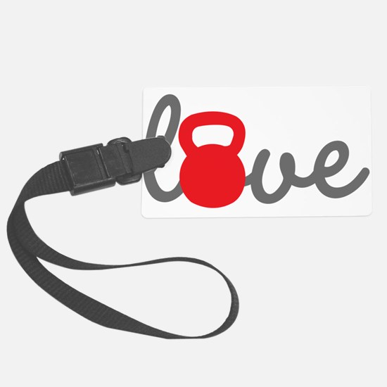 Love Kettlebell in Red Luggage Tag