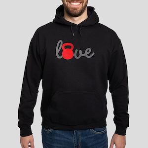 Love Kettlebell in Red Hoodie (dark)