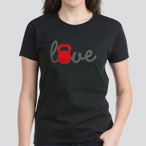 Love Kettlebell in Red Women's Dark T-Shirt