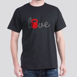 Love Kettlebell in Red Dark T-Shirt