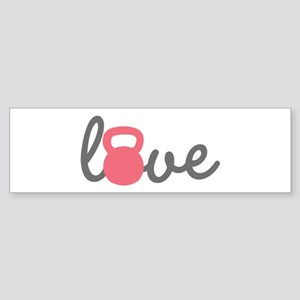 Love Kettlebell in Pink Sticker (Bumper)