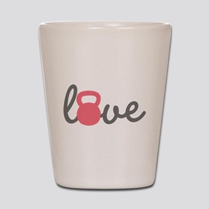 Love Kettlebell in Pink Shot Glass
