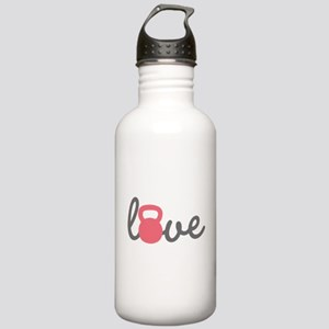 Love Kettlebell in Pink Stainless Water Bottle 1.0