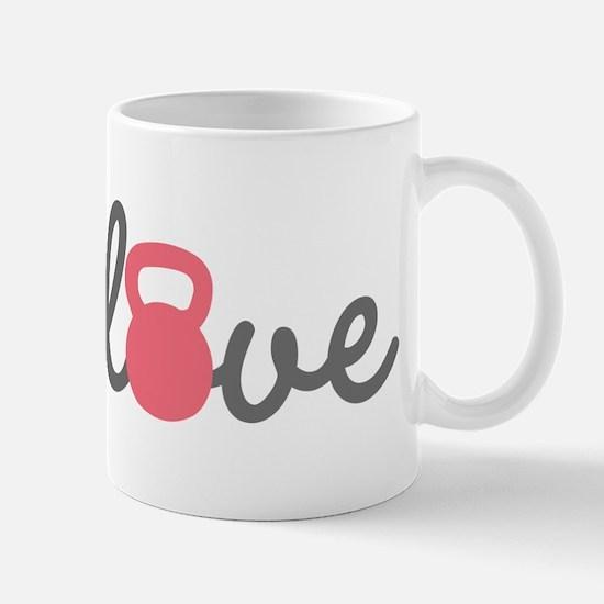 Love Kettlebell in Pink Mug