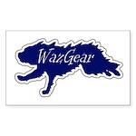 wazgearfasterbluelogocen Sticker (Rectangle 50 pk)