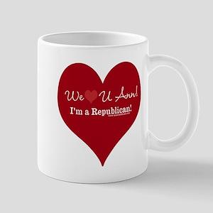 We Heart U Ann Mug