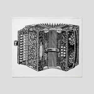 Vintage Accordion Throw Blanket