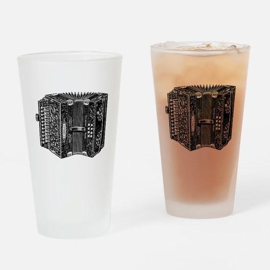 Vintage Accordion Drinking Glass