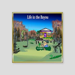 "Bayou Square Sticker 3"" x 3"""