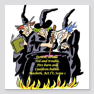 "3Witches Square Car Magnet 3"" x 3"""