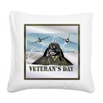 veteransday Square Canvas Pillow
