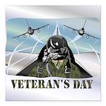 veteransday Square Car Magnet 3