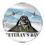 veteransday Round Car Magnet