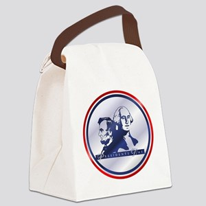holidays_presidents_orn Canvas Lunch Bag