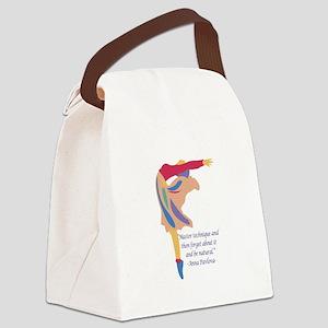 BalleQuoteTransparent Canvas Lunch Bag
