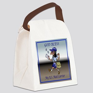 mailCarrierBLMaleTile Canvas Lunch Bag