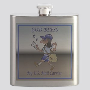 mailCarrierBLMaleTile Flask