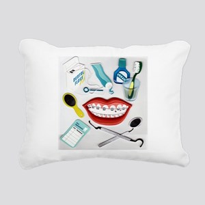 brush your teeth Rectangular Canvas Pillow
